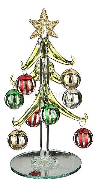 Ель новогодняя с елочными шарами АРТИ-М (15 см) ART 594-102 a b art oa 102