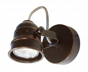 Спот поворотный Веймар, 1 лампы GU10 по 50 Вт., 2.78 м², цвет коричневый матовый