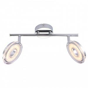 Спот поворотный Fascio, 2 лампы  по 4.5 Вт., 2.3 м², цвет белый глянцевый