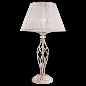 Настольная лампа декоративная Selesta 01002/1 белый с золотом