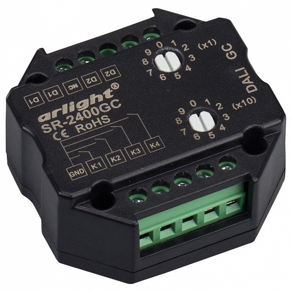 Конвертер электросигнала в радиосигнал DALI SR-2400LC (4 адреса)