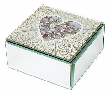 Шкатулка для украшений (12х12х6 см) Heart 453-111
