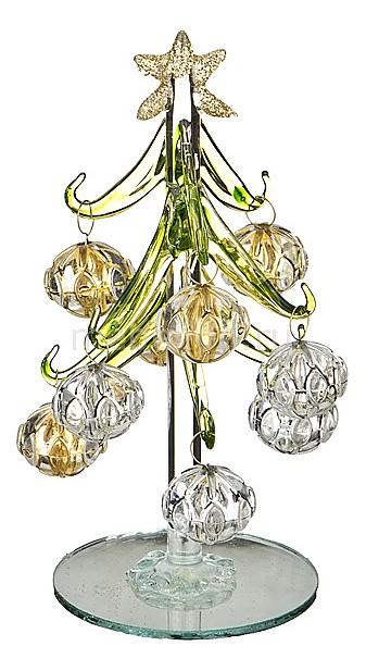 Ель новогодняя с елочными шарами АРТИ-М (15 см) ART 594-100 елочная игрушка арти м 15 см лягушка 785 027