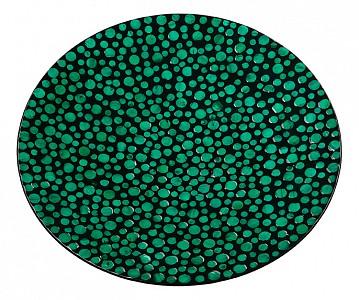 Блюдо декоративное (55х60 см) Малахитовые кольца VP-08