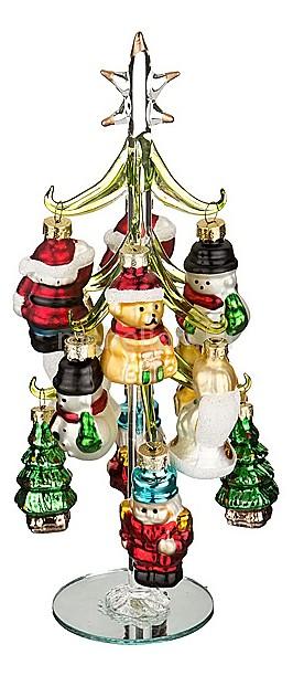 Ель новогодняя с елочными игрушками АРТИ-М (25 см) ART 594-049 ель новогодняя crystal trees 1 2 м триумфальная с шишками kp8612