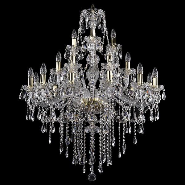 Подвесная люстра 1415/12+6+3/300/G Bohemia Ivele Crystal  (BI_1415_12_6_3_300_G), Чехия