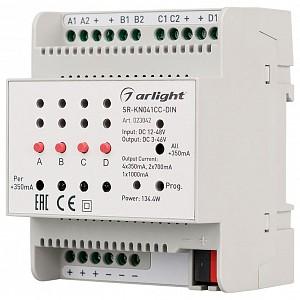 Контроллер SR-KN041CC-DIN (12-48V, 4x350/700mA)