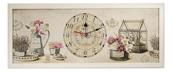 где купить Настенные часы Акита (60х30 см) AKI 3060-14W дешево