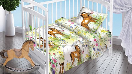 Комплект постельного белья в кроватку На лугу DTX_13021-439