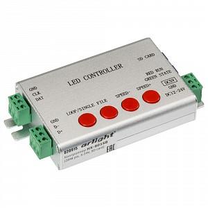 Контроллер-регулятор цвета RGB HX-801SB (2048 pix, 5-24V, SD-card)