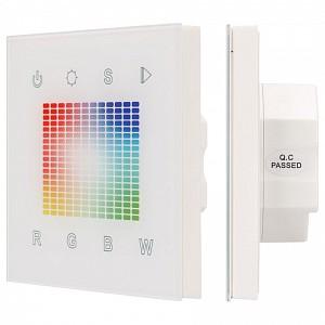 Панель-регулятора цвета RGBW сенсорная встраиваемая Sens SR-2831S-AC-RF-IN White (220V,RGB,1зон