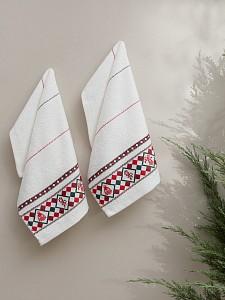 Набор из NONE полотенец для кухни (30x50 см) Christmas