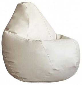 Кресло-мешок Кремовая ЭкоКожа L