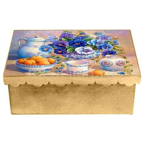 Шкатулка декоративная Акита (26х18х13 см) Виола 1826-11 шкатулка декоративная акита 32х16 5х46 см ажурная 2002