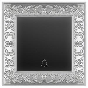 Кнопка звонка Antik (Черный матовый) WL07-Frame-01+WL08-04-01