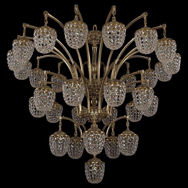 Подвесная люстра 1772/16+10+5+1/490/GB Bohemia Ivele Crystal  (BI_1772_16_10_5_1_490_GB), Чехия