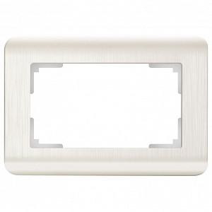 Рамка для двойной розетки Перламутровый рифленый WL12-Frame-01-DBL