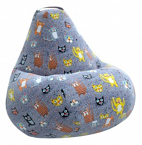 Кресло-мешок Cats Жаккард 2XL 135*95 см