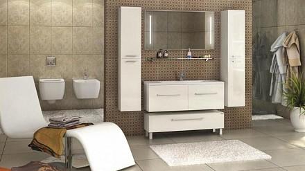 Гарнитур для ванной Акватон Мадрид 120М белый