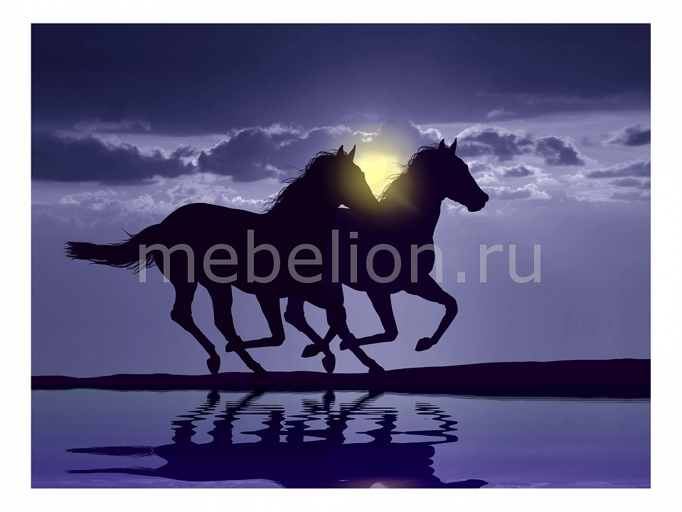 Панно Ekoramka (80х60 см) Лошади 120362905 casio часы casio gd 120mb 1e коллекция g shock