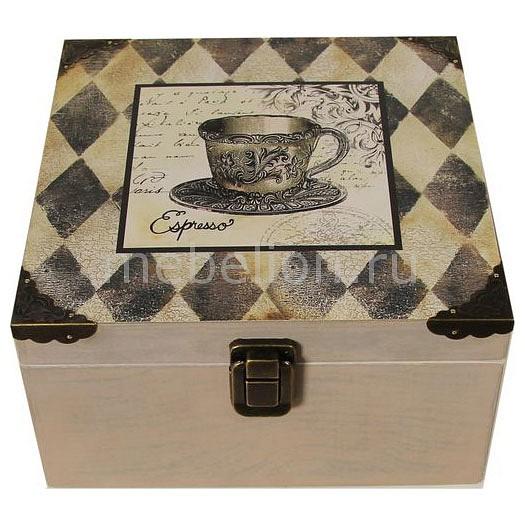 цена Шкатулка декоративная Акита (24х24х13 см) Espresso 1012-14