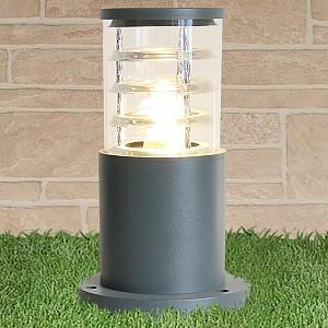 Наземный низкий светильник 1508 TECHNO silver серый