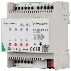 Контроллер-регулятор цвета RGBW Intelligent KNX-104-DIM-DIN (12-24V, 4x4A)