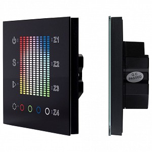 Панель-регулятора цвета RGBW сенсорная встраиваемая SR-2300TP-IN Black (DALI, RGBW)
