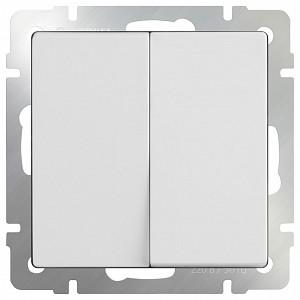 Выключатель двухклавишный без рамки Белый WL01-SW-2G