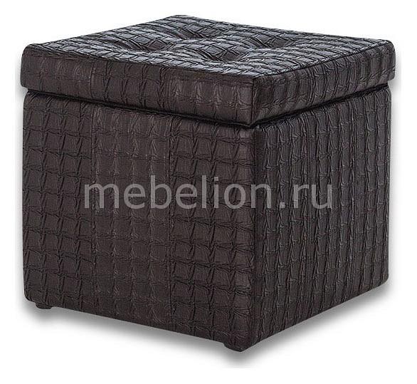 Пуф-сундук Модерна Черная Ребристая