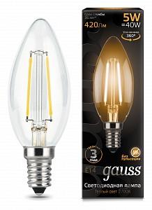 Лампа светодиодная [LED] Gauss E14 5W 2700K