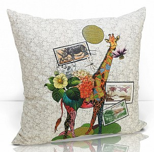 Подушка декоративная (49x49 см) Giraffe