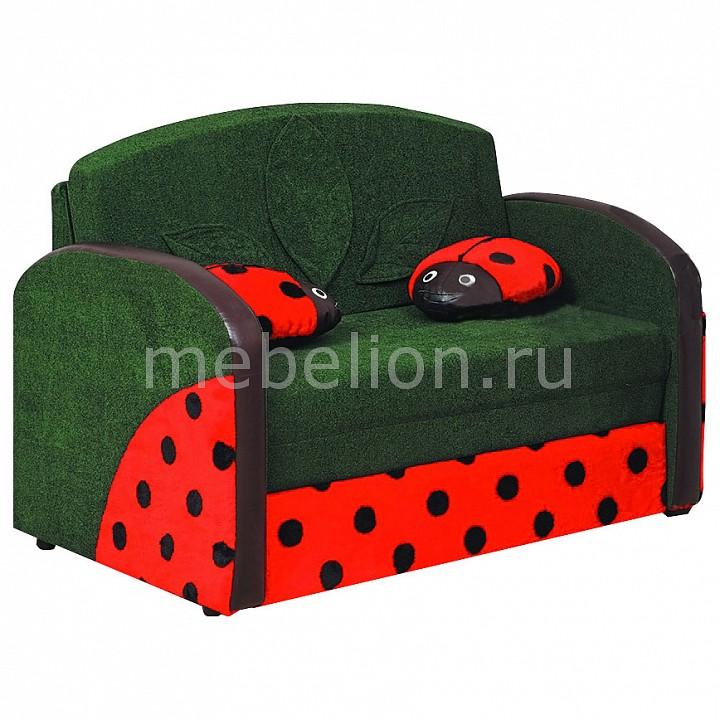 Диван-кровать Мася-9 Божья коровка 8161127 зеленый/красный