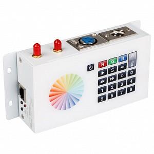 Панель-регулятора цвета RGBW клавишная накладная DMX SR-2816WI White (12V, WiFi, 8 зон)