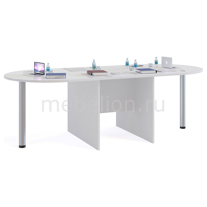 Стол для переговоров СПР-05+2 шт. СПР-03 белый