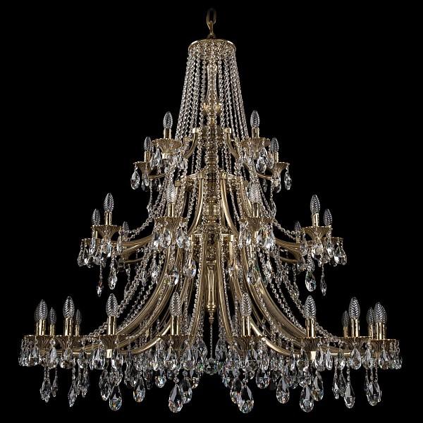 Подвесная люстра 1771/20+10+5/490/A/GB Bohemia Ivele Crystal  (BI_1771_20_10_5_490_A_GB), Чехия