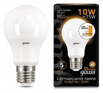 Лампа светодиодная LED A60 E27 180-240В 10Вт 3000K 102502110-S