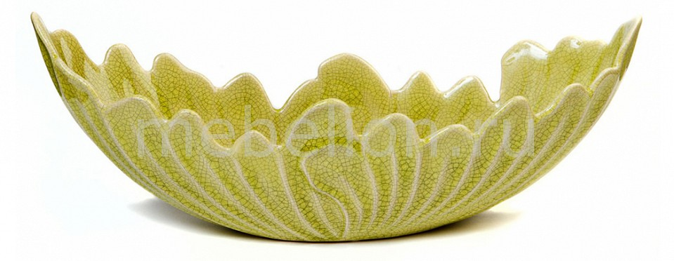 блюдо декоративное Home-Religion Блюдо декоративное (45х15.5х15.5 см) Капустный лист 45001200 декоративное пасхальное украшение на ножке home queen роскошное цвет зеленый высота 27 см