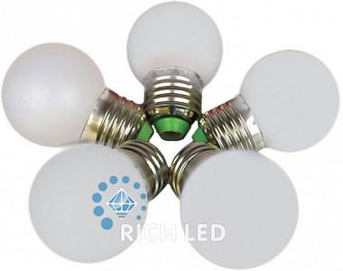 Лампа светодиодная RL-BL E27 220В 1Вт 4000K RL-BL-E27-G45-W