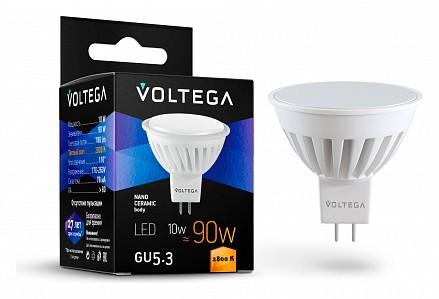 Лампа светодиодная [LED] Voltega GU5.3 10W 2800K