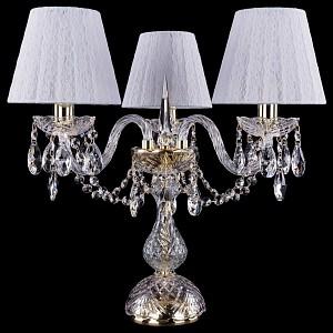 Настольная лампа декоративная 1406L/3/141-39/G/SH13-160