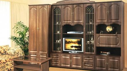 Мебельная стенка среднего размера Романтика NEM_VK-09-1