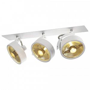 Спот поворотный Kalu, 3 лампы GU10 по 75 Вт., 10.45 м², цвет белый матовый