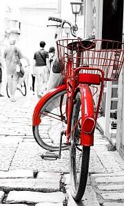 Картина (30х50 см) Красный велосипед HE-101-486
