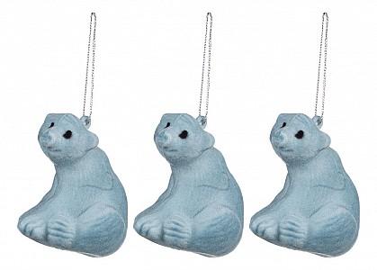 Набор из 3 елочных игрушек Медвежата 858-142