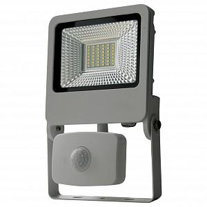 Настенный прожектор ULF-F37-30W/NW SENSOR IP54 195-240В SILVER картон