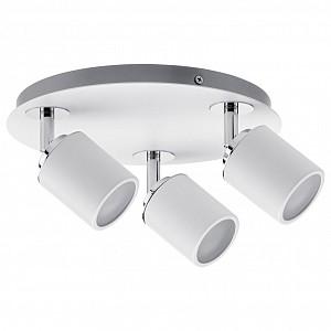 Спот поворотный Tube, 3 лампы GU10 по 10 Вт., 8.57 м², цвет белый глянцевый