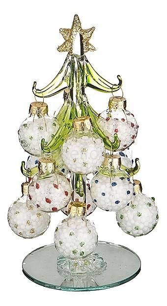 Ель новогодняя с елочными шарами АРТИ-М (15 см) ART 594-097 ель новогодняя crystal trees 2 3 м питерская kp8123
