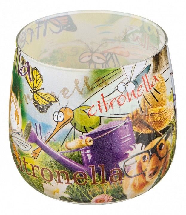 Свеча ароматическая АРТИ-М (6x7 см) Цитронелла 348-487 свеча ароматическая арти м 8х7 см закат 348 468