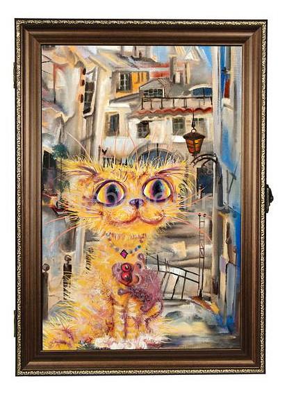 Ключница Акита (24х34 см) Рыжий кот 312-38 кот в мешке время играть